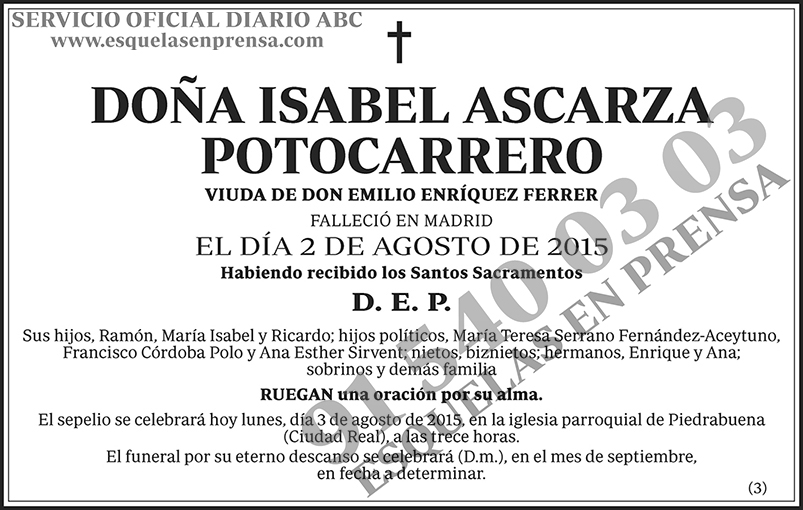Isabel Ascarza Potocarrero